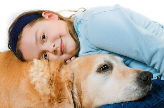 Girl wit hHer Dog